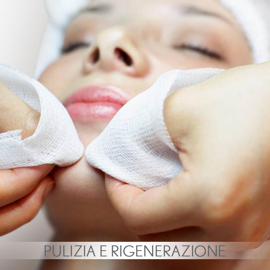 trattamento estetico di pulizia e rigenerazione per la pelle del viso