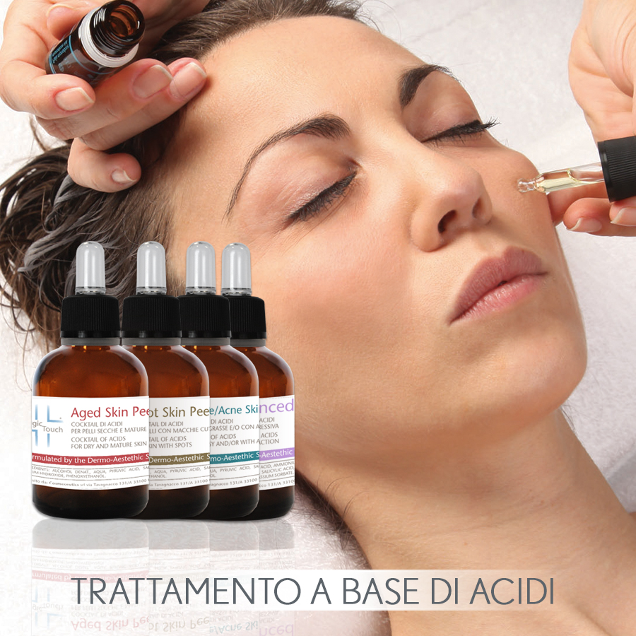 trattamenti cosmetici e cosmeceutici per il viso a base di acidi